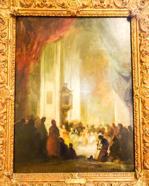122-Upton House  The Sermon by Eugenio Lucas y Padilla 19thC (1 of 1)