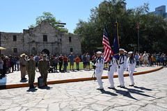 Sailors participate in Navy Day at The Alamo.