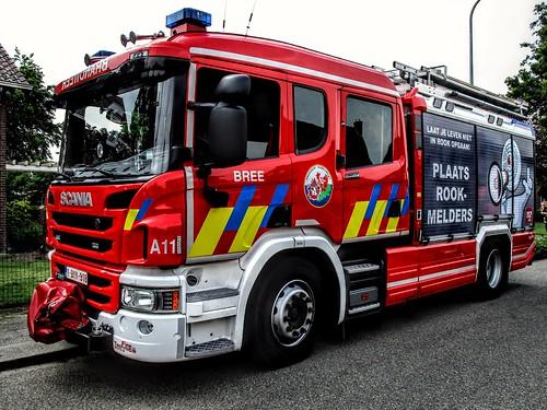Brandweer {B} | Zone Noord-Limburg | Post Bree | Alfa 11