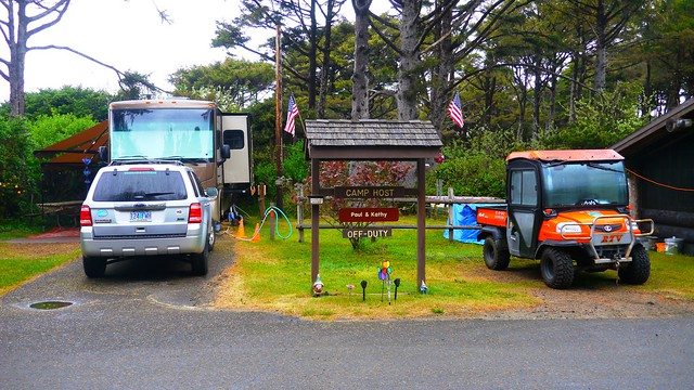 Camp Host Off-Duty at Beachside State Recreation Site