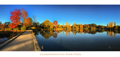 Commonwealth Park Pond Reflection pano