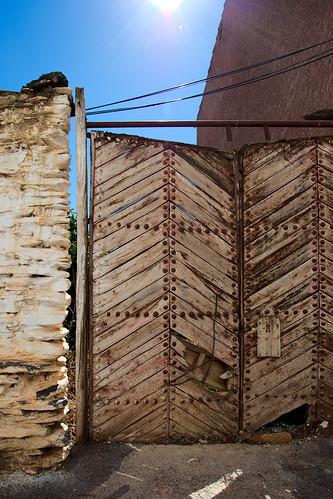 Worn Wooden Gate