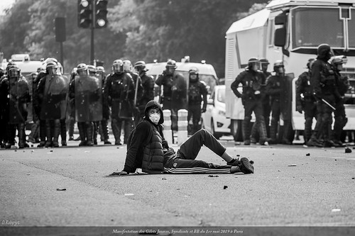 Manifestation-des-Gilets-Jaunes-vests-Yellow-1er mai-Paris-2019 (0856) © Olivier Roberjot