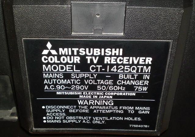 MITSUBISHI TV CT-1425QTM