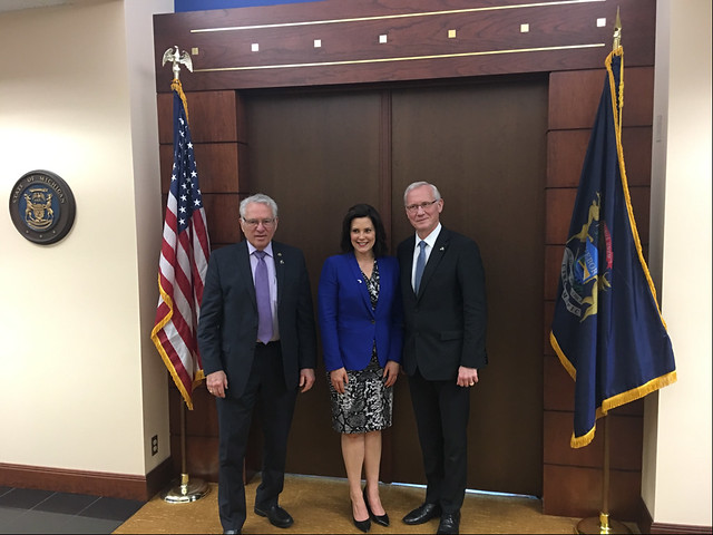 Ambassador Teikmanis invites the new Governor of Michigan to visit Latvia