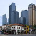 Old and new city nearby. Singapore