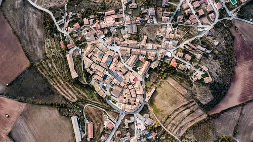 La Puebla de Castro from the top