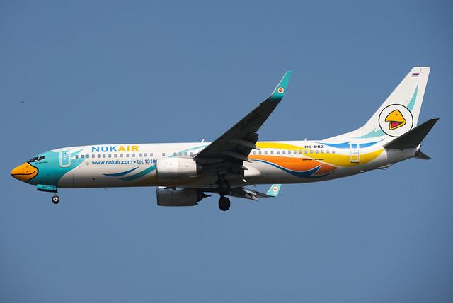 Nok Air Boeing 737-88L(WL) HS-DBZ Nok Napa Proud นกนภาพราว