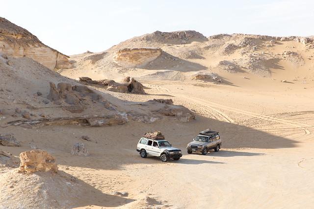 Black and White Desert Camping Trip
