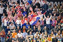Kroatische Fans sorgen für Stimmung Köln Arena Handball WM 2019