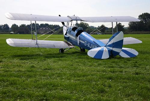 G-AJHS DH82a Tiger Moth cn - Vliegend Museum Seppe 150822 Ede 1002