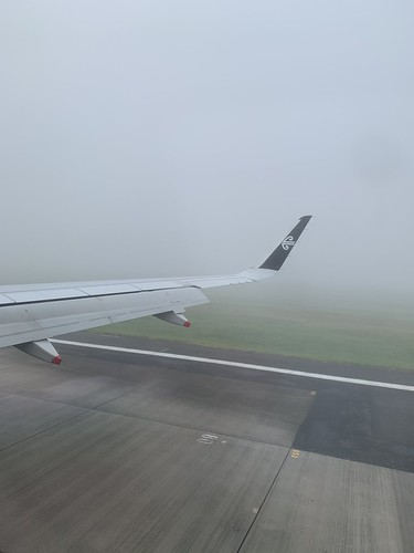 So much fog at Auckland