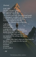 Poem by Barbara Elder - Everest