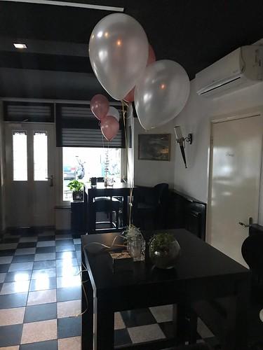 Tafeldecoratie 3ballonnen Wijnbar Spijkenisse
