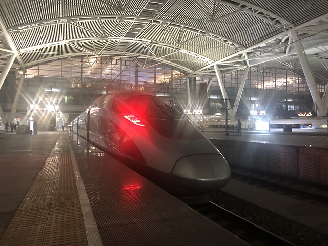 High speed train at Guangzhou South railway station