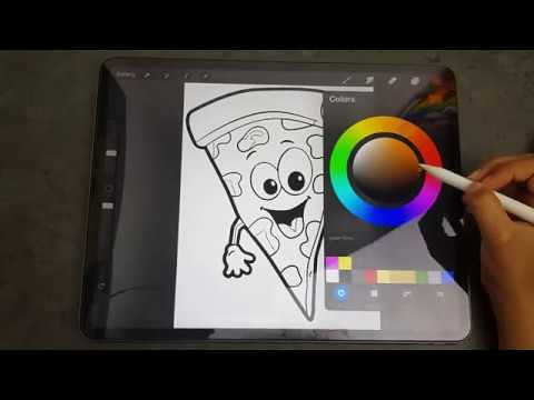 How To Color Cute Pizza Slice Easy For Kids Romaysabros