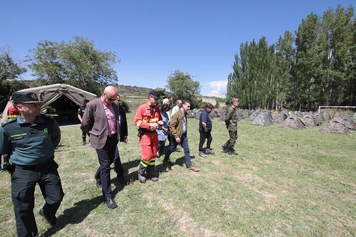 Maniobras de la UME en Priego, Cuenca