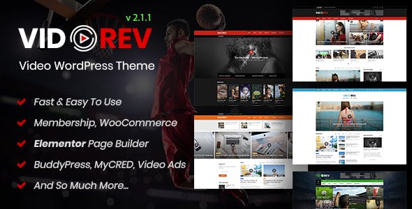 VidoRev v2.6.8 – Video WordPress Theme