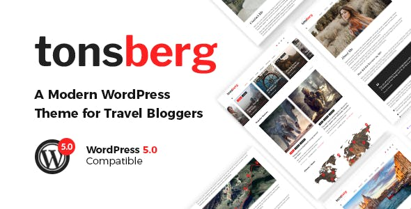 Tonsberg v1.1.1 - A Modern WordPress Theme for Travel Bloggers