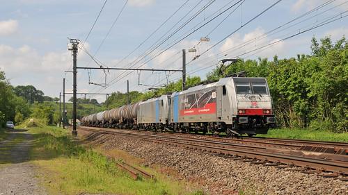 DB Cargo Nederland 186 496 + 186 256 Bassenge 23.05.2019
