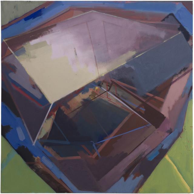 Juno Base II, 80 x 80 cm, EggtemperaOil-Pigments, 2018