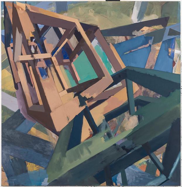 Cascading II,160x155cm, Eitempera-Öl/Pigmente, 2019