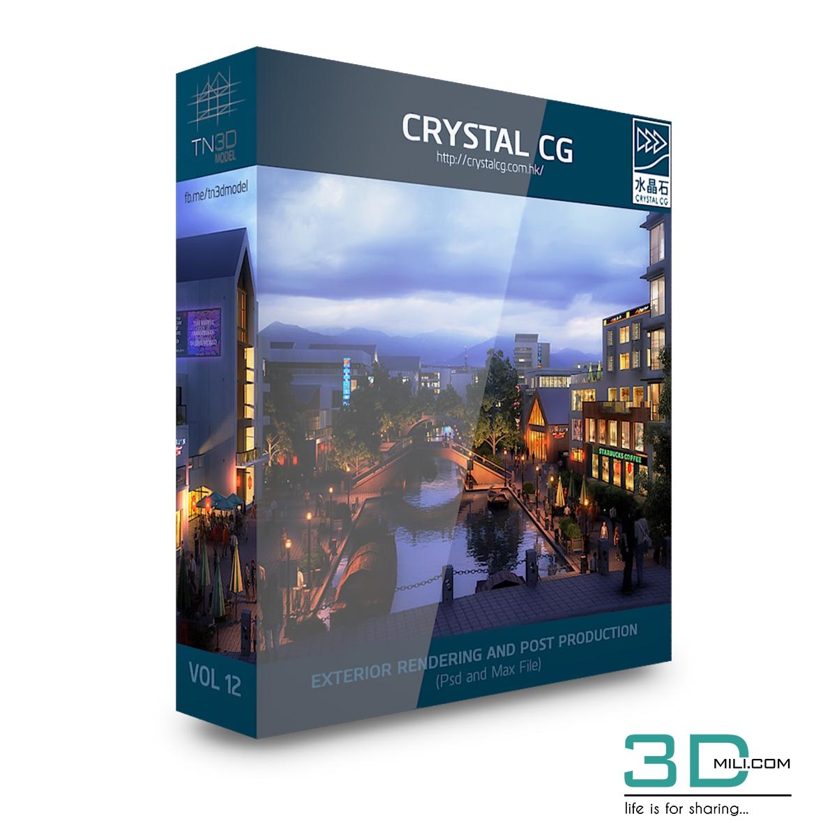Crystal CG – Architecture 3d Scene VOL 12 - 3D Mili