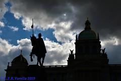 silhuetas de Praga