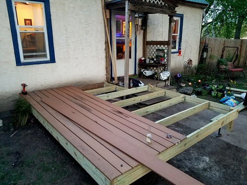 Got a lot done today. This is only one half of what will be the 12 x 20 finish deck