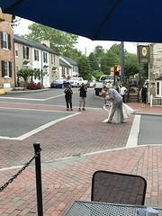 Wedding photos on Washington St. in Middleburg