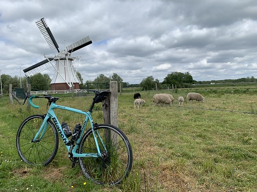 Birthday-party ride, visiting my niece and sister-in-law in Groningen for their birthdays. 120km