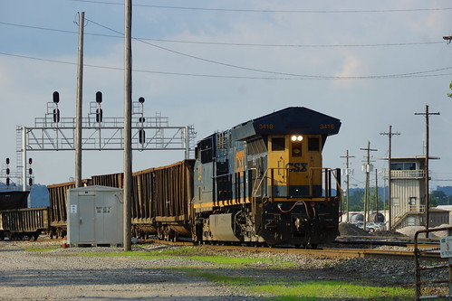 CSX GE ET44AC #3418 SWITCHES CAR AT BOYLES YARD, BIRMINGHAM, AL