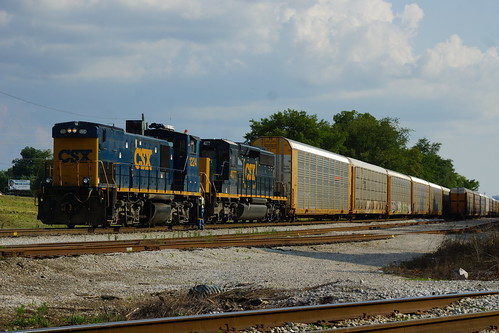 CSX EMD MP15T #1224 AAND SD40-3 #4077 AT AUTO RACK FACILITY NORTH OF BOYLES YARD, BIRMINGHAM, AL