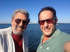 Dad & I visiting Ballast Point Pier, Jules Verne Park, Tampa, FL