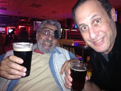 Dad & I having a beer & Bobalouies, Tampa, FL