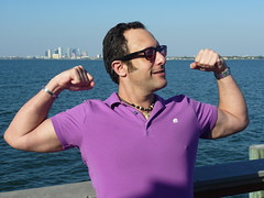 Flexing @ Ballast Pointe Pier, Jules Verne Park, Tampa, FL