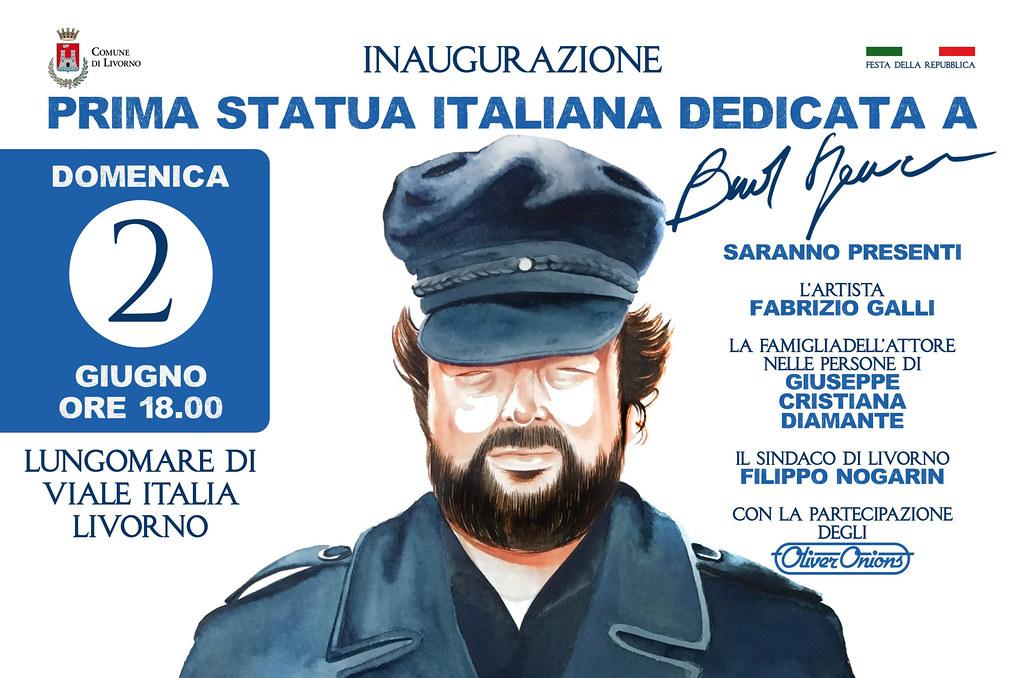 Livorno statua Bud Spencer 1