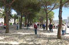 Playing boules at Carnon