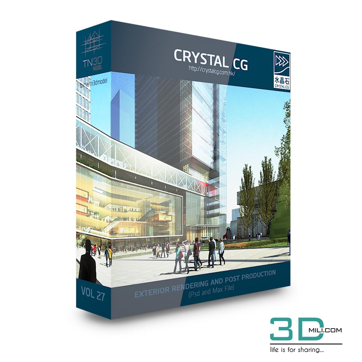 Crystal CG – Architecture 3d Scene VOL 27 - 3D Mili