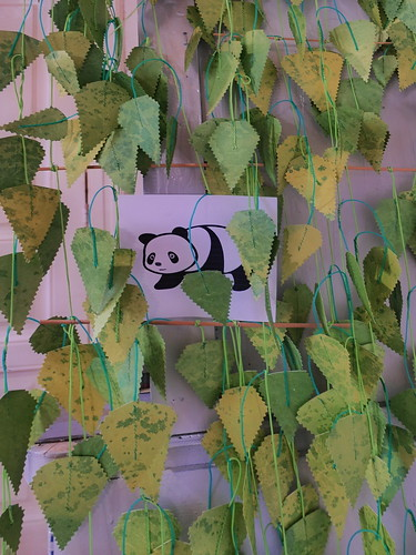#goodpandacontest flickr Panda at the Textile Printing Studio im Atelier der Stoffdruckerin - After the Zoo we visited a friend`s atelier