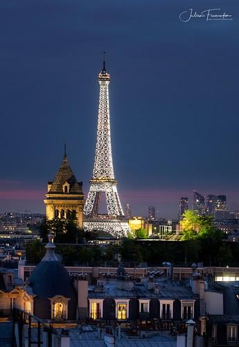 Tour Eiffel & Eglise Notre-Dame-des-Champs, Paris