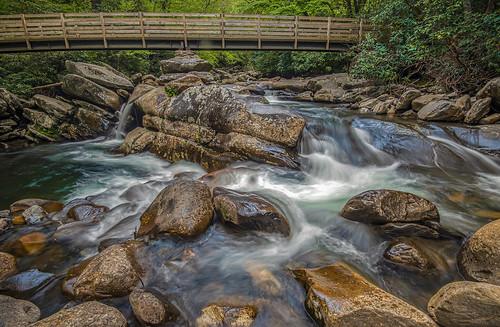The stream crossing.