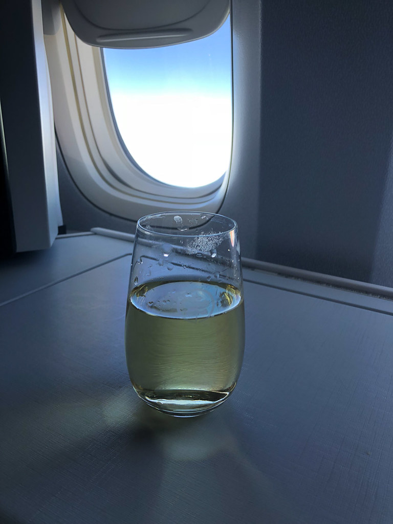 White wine on Air Canada flight