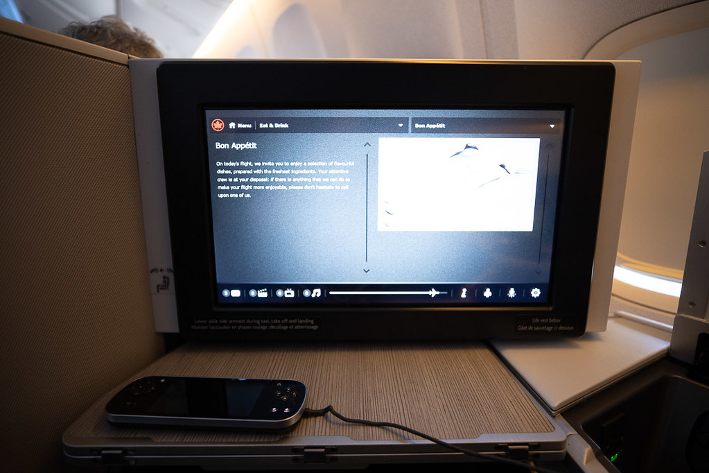 Remote and TV on flight