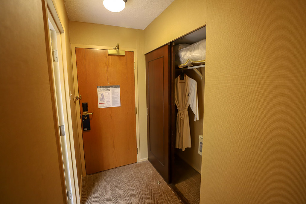 Shower in room at Toronto Airport Sheraton
