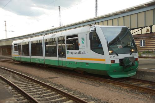 VT 34 der Vogtlandbahn in Zwickau Hbf