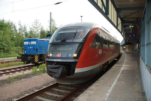 Zug nach Johanngeorgenstadt in Zwickau Hbf