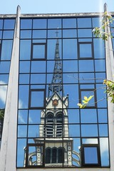 Fort-De-France Reflection Of  Cathedral On Glass Fronted Building