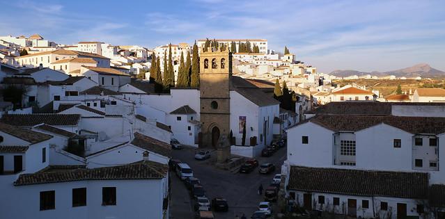 Late light over Iglesia de Nuestro Padre Jesús Nazareno in Ronda