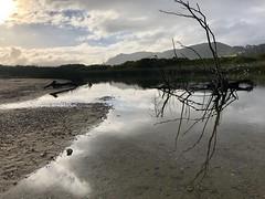 Carmel River Lagoon/sunrise on a cloudy day